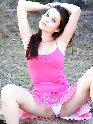 Amour Angels  Serena  Striptease, Amazing, Solo, Teens, Beautiful, Brunettes