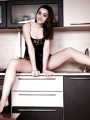 Amour Angels  Stella  Brunettes, Solo, Teens, Kitchen, Funny